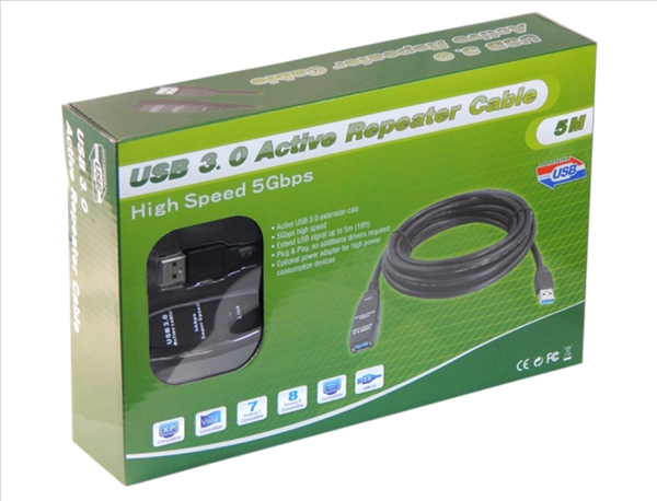 Picture of Active USB 3.0 Extension-Cable - Repeater-Cable - 5m