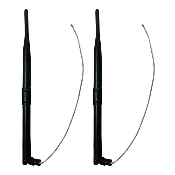 Picture of Kuhlmann Set of 2 2,4GHz 7dBi WiFi Omni Antennas with Housing Clip and IPEX