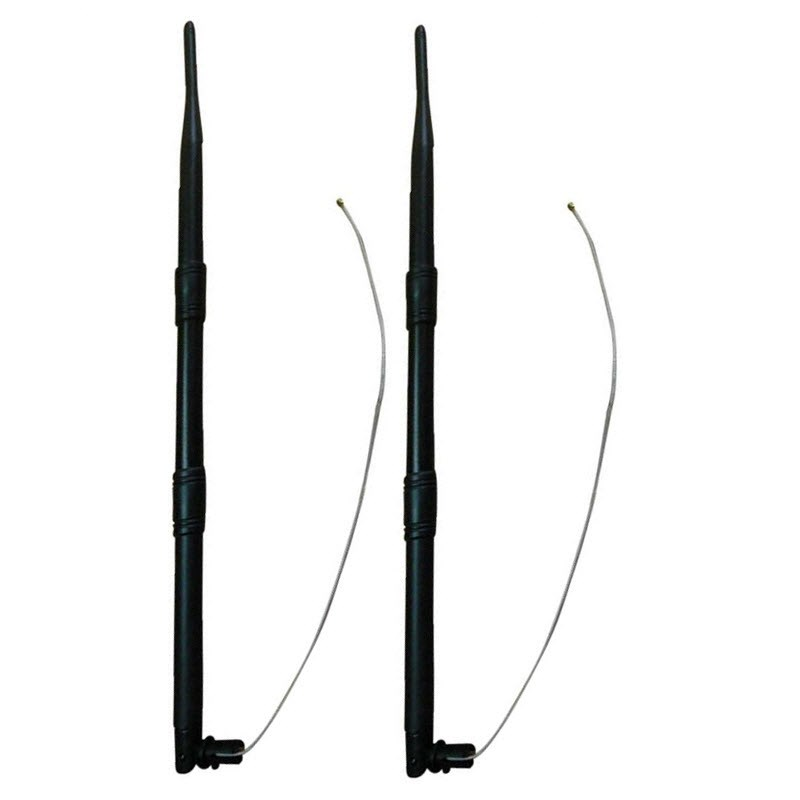 Set of two 2,4GHz 9dBi WiFi Omni Antenne with Housing Clip and IPEX