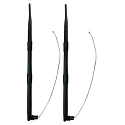 Picture of Kuhlmann Set of two 2,4GHz 9dBi WiFi Omni Antenne with Housing Clip and IPEX