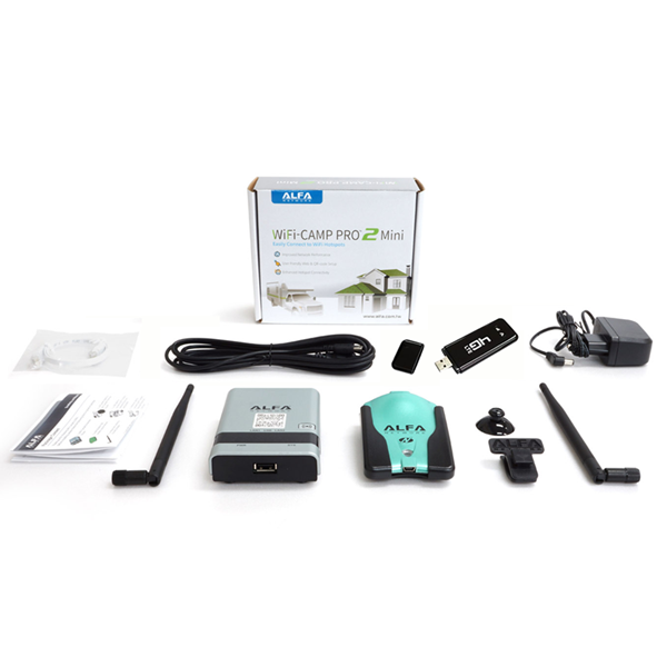 Picture of ALFA Network WiFi and 4G Camp Pro 2 Mini - WiFi/LTE Extender Combo Set + Manual (DE)